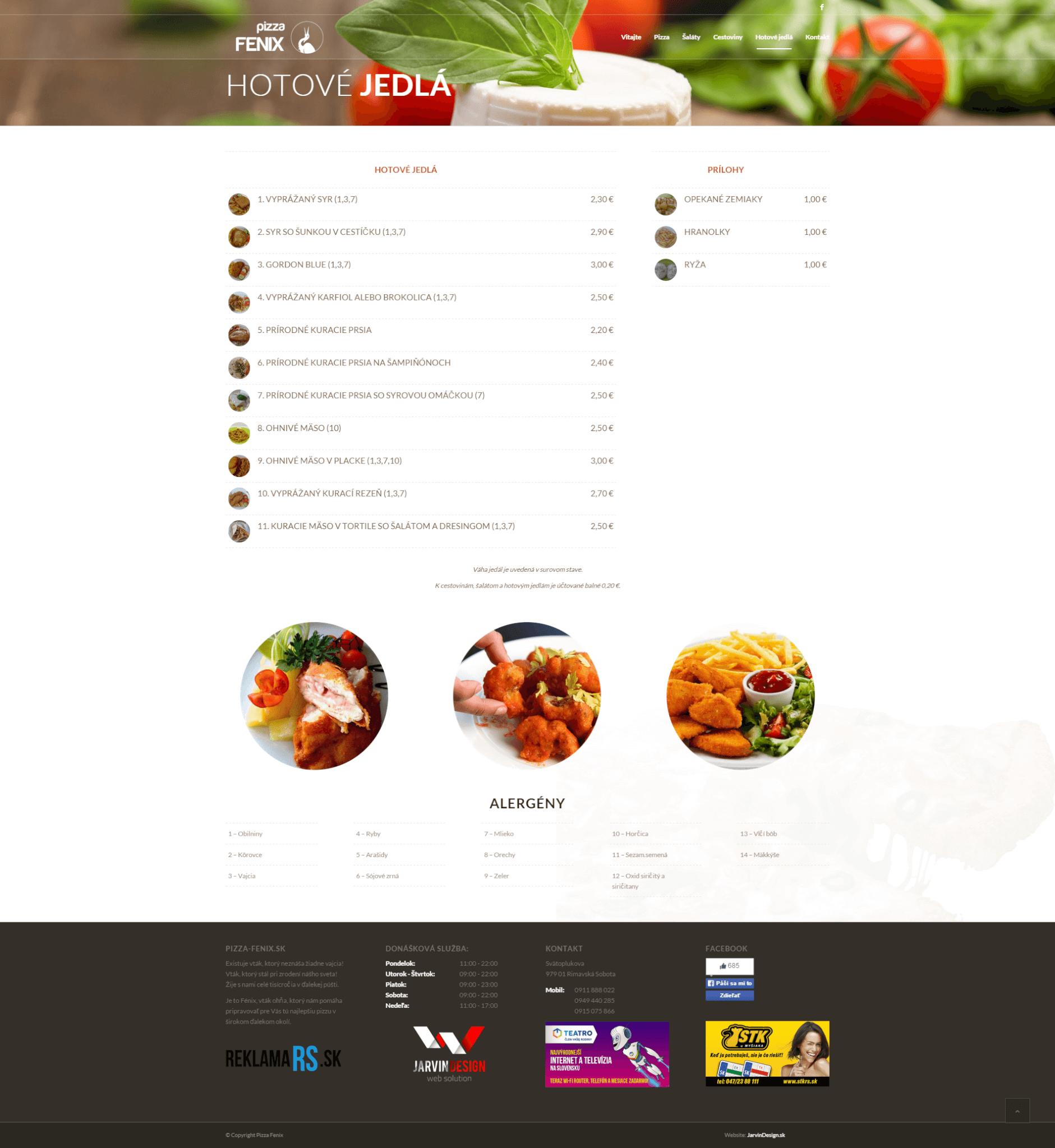 Pizza-Fenix.sk - hotové jedlá