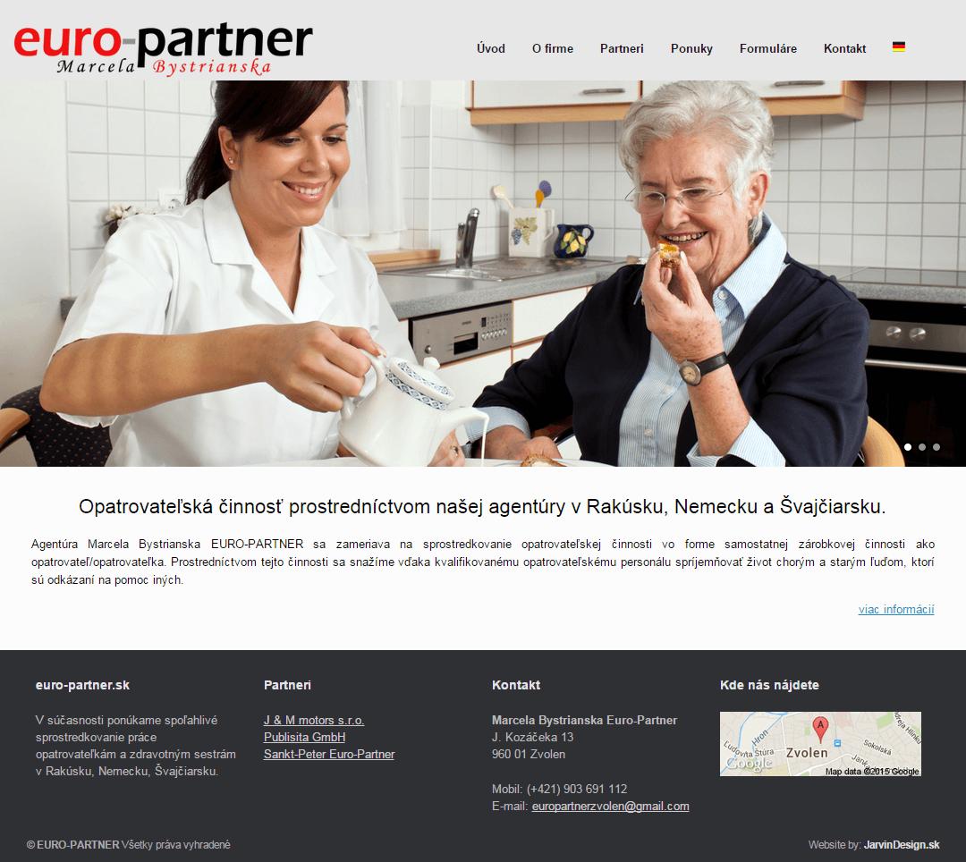 Euro-Partner - titulná stránka