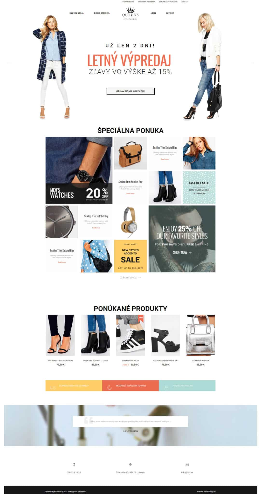 Queen Style Fashion - titulná stránka