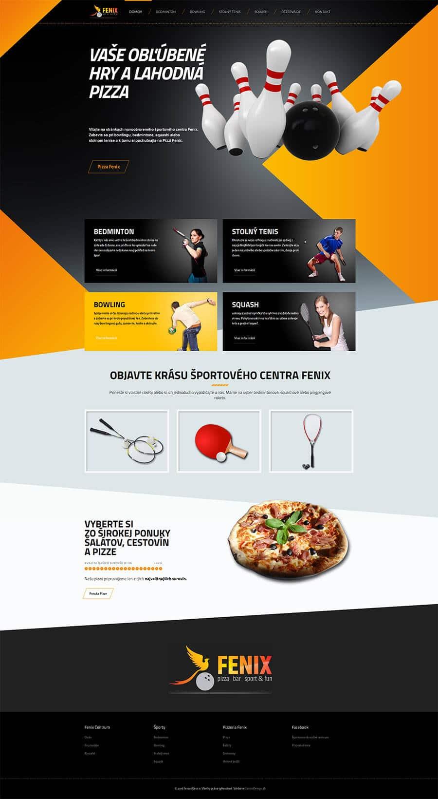 Fenix Sport titulná stránka