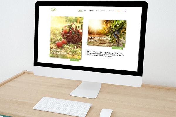 Náhľad web stránky GemerProdukt Valice na monitore - JarvinDesign - Tvorba web stránky