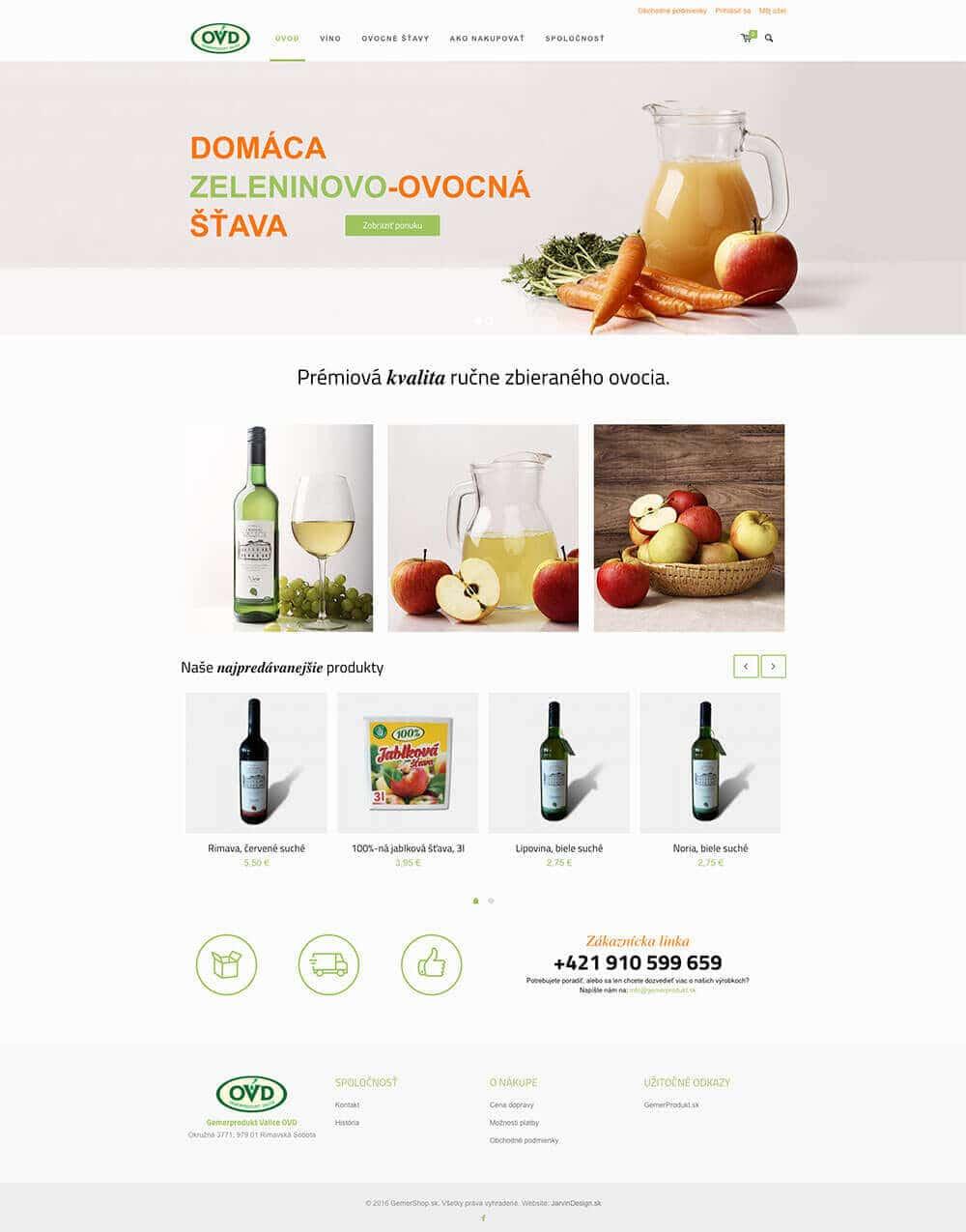 GemerShop.sk titulná stránka