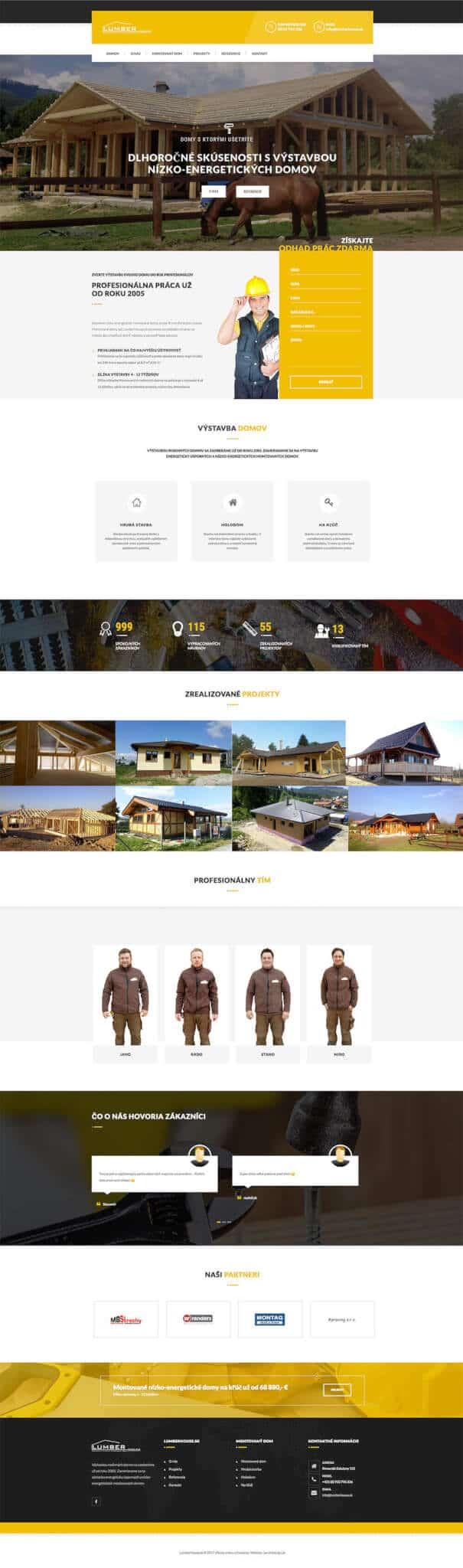 LumberHouse.sk titulná stránka