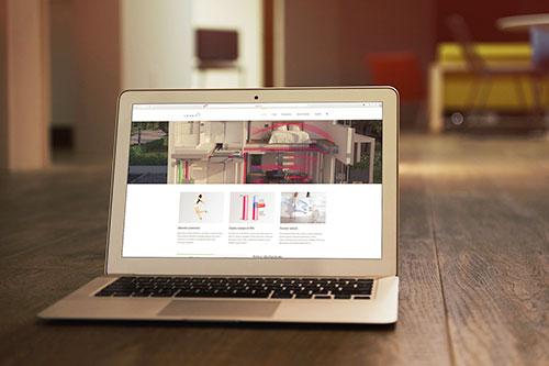Náhľad web stránky Lekuh.sk na notebooku