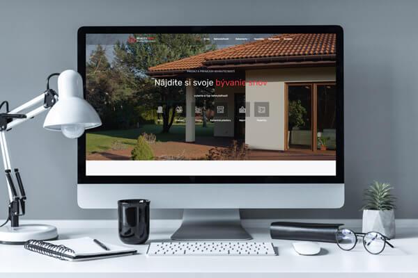Náhľad web stránky RealityMini na iMacu