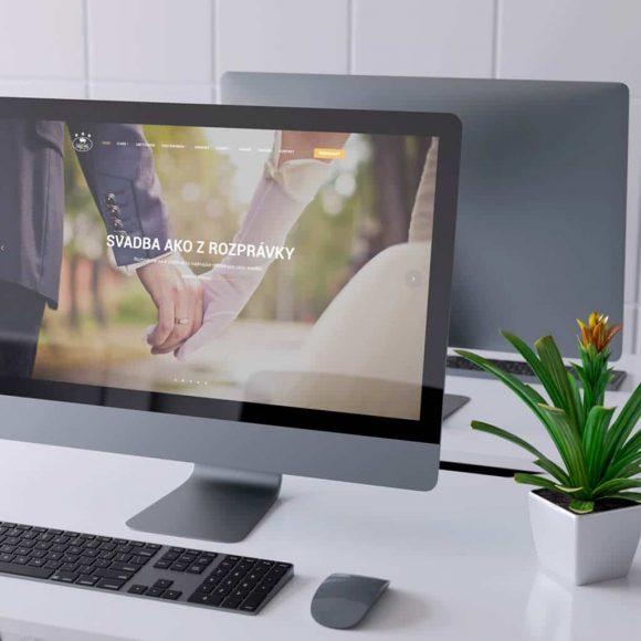 Náhľad web stránky hotela Zlatý býk na iMacu - JarvinDesign.sk - tvorba web stránok