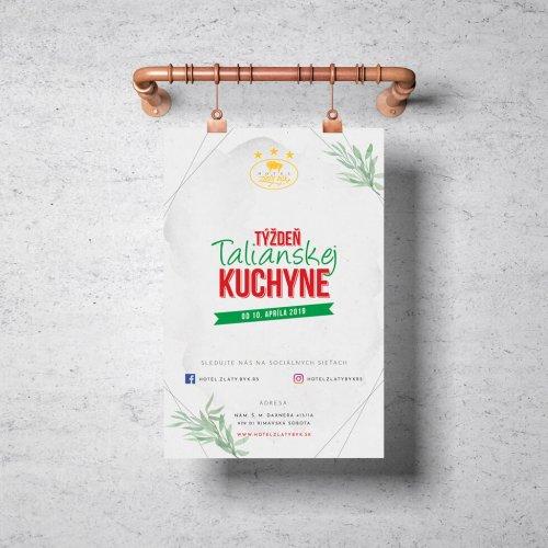 Náhľad plagátu Týždeň Talianskej kuchyne - JarvinDesign.sk - tvorba letákov