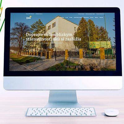 Náhľad web stránky domova sociálnych služieb Hélia