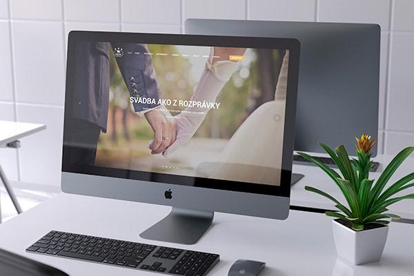 Náhľad web stránky hotela Zlatý býk na monitore