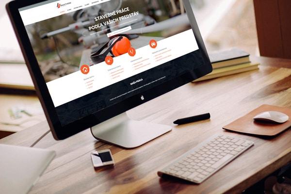 Náhľad web stránky MagicTherm na monitore