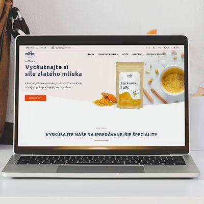 Náhľad stránky nu3o.com na notebooku - JarvinDesign.sk - tvorba eshopov