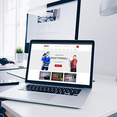 Náhľad eshopu Puck United na notebooku - JarvinDesign.sk - tvorba web stránok