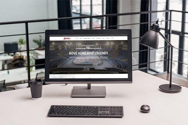 Náhľad web stránky Puck United na monitore