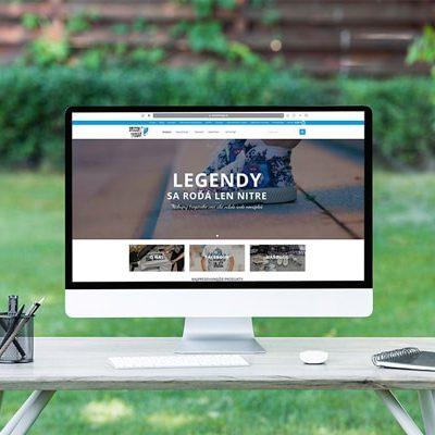 Náhľad web stránky Srccom trogár na monitore - JarvinDesign.sk - tvorba eshopov