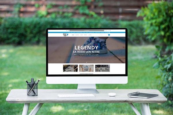 Náhľad web stránky Srccom trogár na monitore